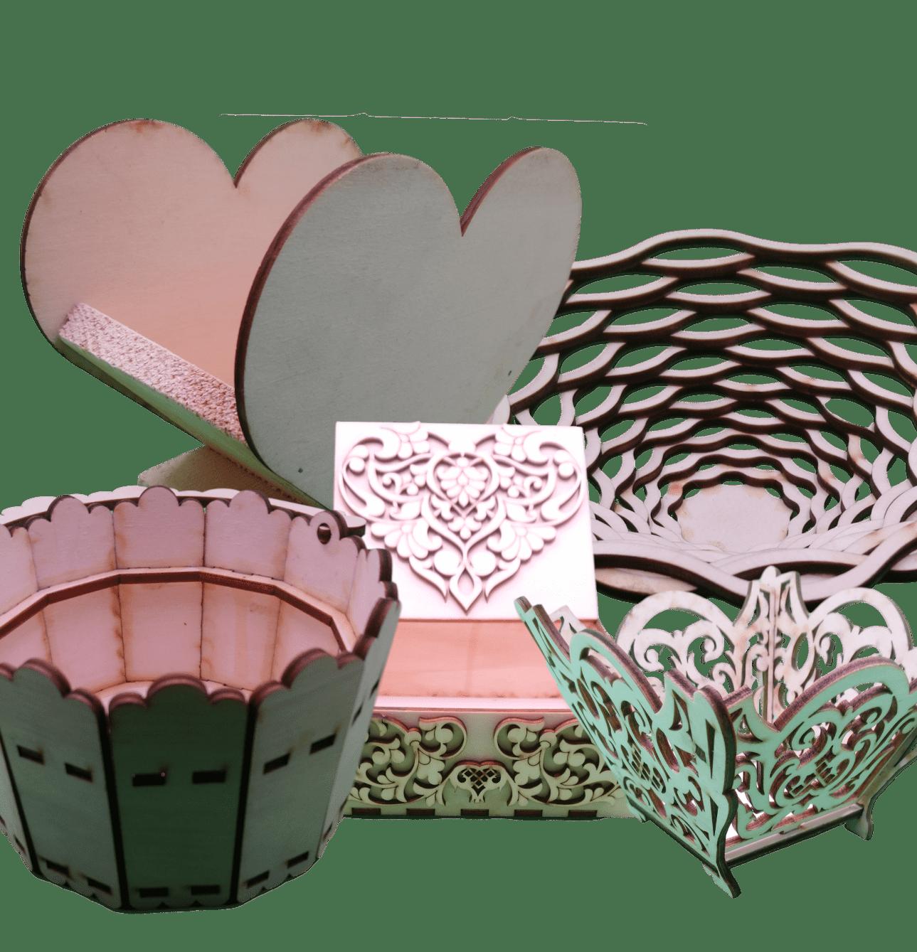 Lesene posode in zaboji